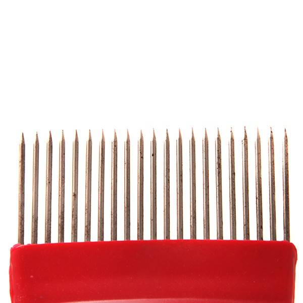 Uncapping Fork Comb Scratcher Straight Needle