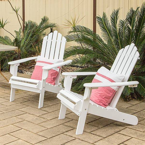 Outdoor Furniture Cape Cod Chairs Fold Solid Timber Acacia Hardwood 2 Chairs