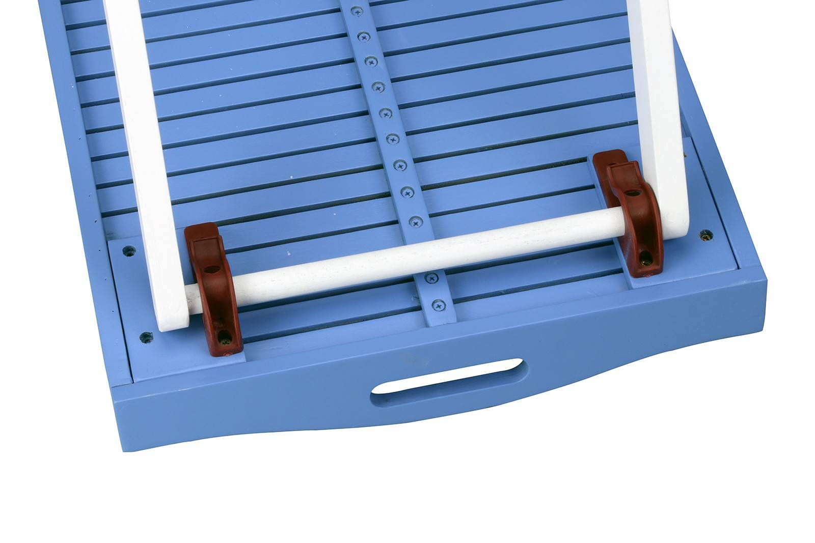 Butlers Folding Tray Table - Hardwood - Outdoor Paint - Blue