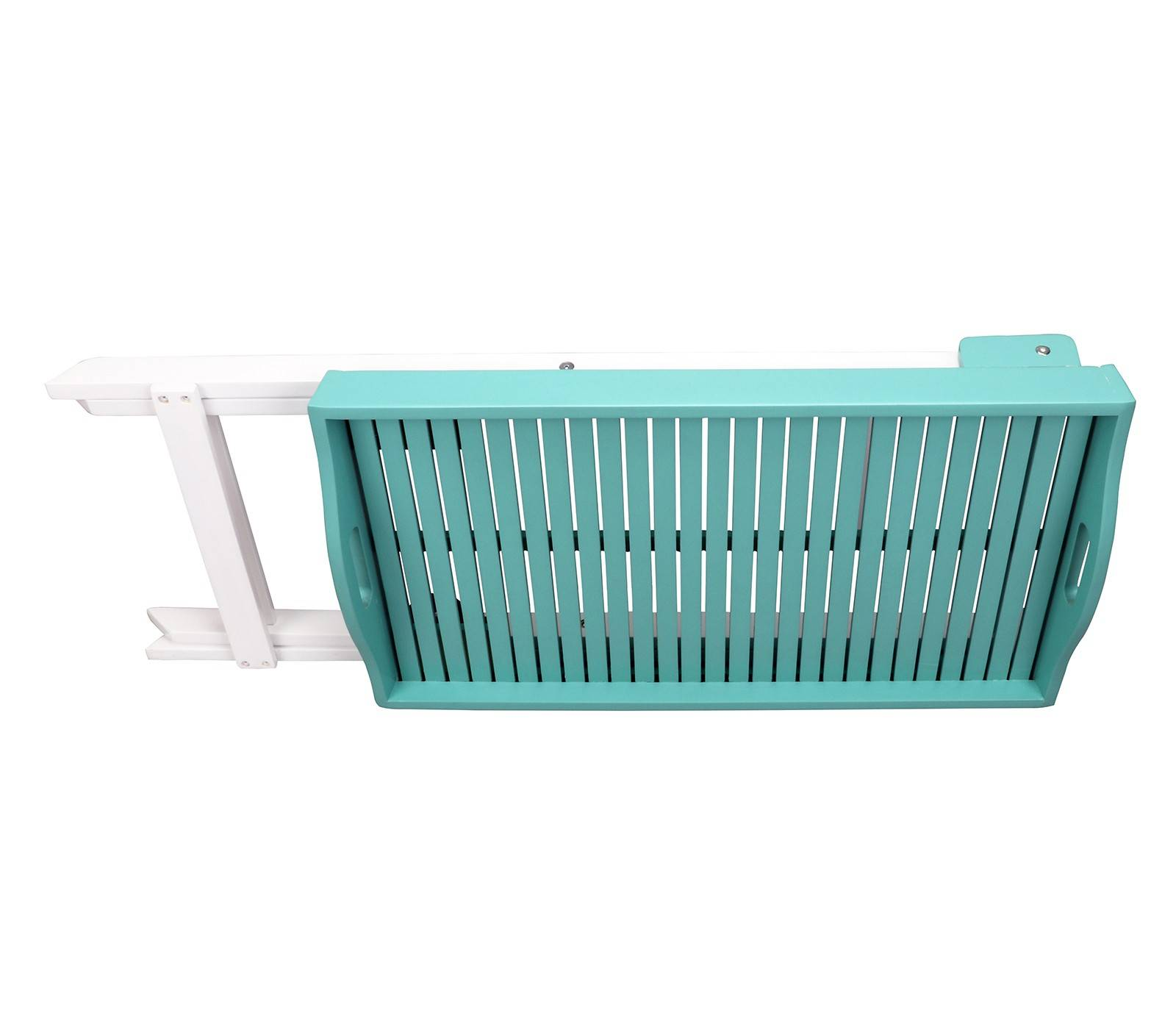 Butlers Folding Tray Table - Hardwood - Outdoor Paint - Turquoise