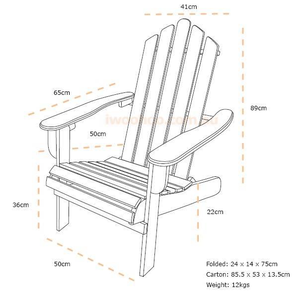 Set of 2 Timberlake Cape Cod Adirondack Chairs