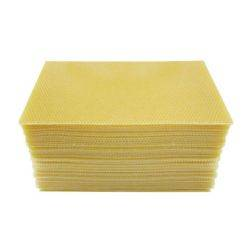 Full Depth Wax Foundation Comb - 40pcs- 5.4mm Cell Size Beehive Bees Wax Heavy Brood