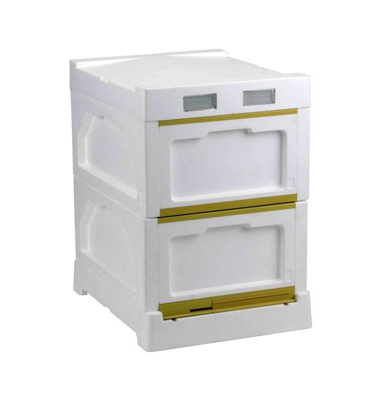 Beehive - High Density Expanded Polystyrene Double Level 10F Beehive