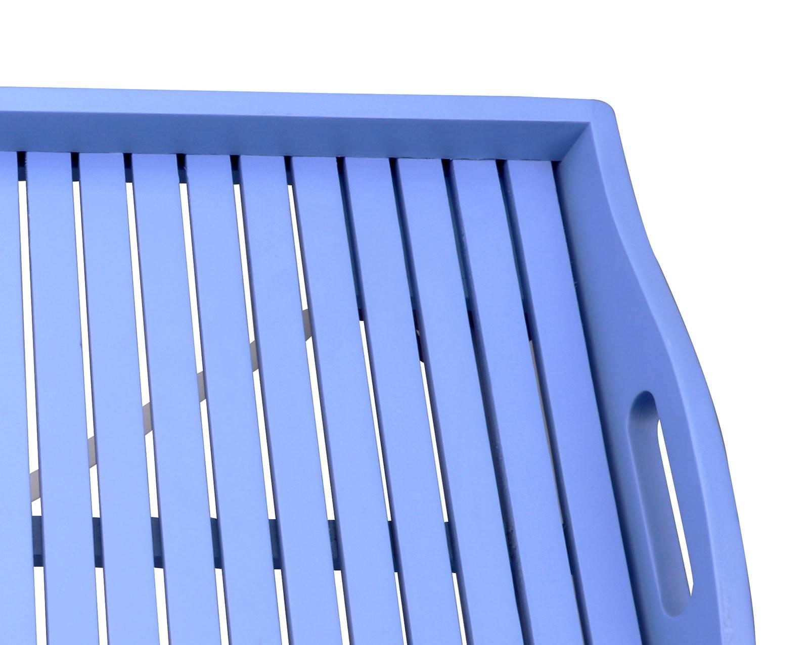 Hardwood Butlers Tray - Blue