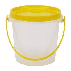 Carton of 180pcs Plastic Honey Bucket 800ml/1kg Complete Honey Jar Handle Lid