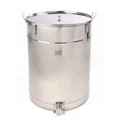 Honey Storage Tank 200kg - Threaded Stainless Steel Honey Gate