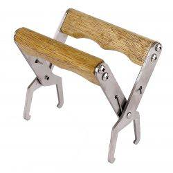 Deluxe Frame Grip with Comfortable Wooden Handles